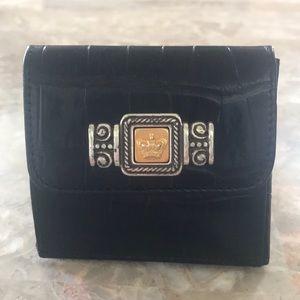 Vintage Brighton Black Patent Leather Mini Wallet